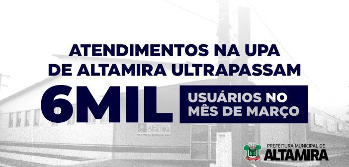 ATENDIMENTOS NA UPA DE ALTAMIRA ULTRAPASSAM 6 MIL USUÁRIOS EM MARÇO